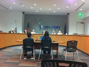 Isaac and Miko Testifying at Beaverton City Council