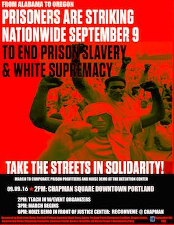 Prison Strike Solidarity Protest @ Chapman Square Downtown Portland