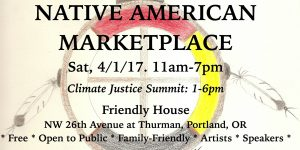 Native American Marketplace + Climate Justice Summit @ Friendly House Community Center
