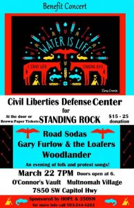 Benefit Concert for the Civil Liberties Defense Center for Standing Rock @ O'Connor's Vault