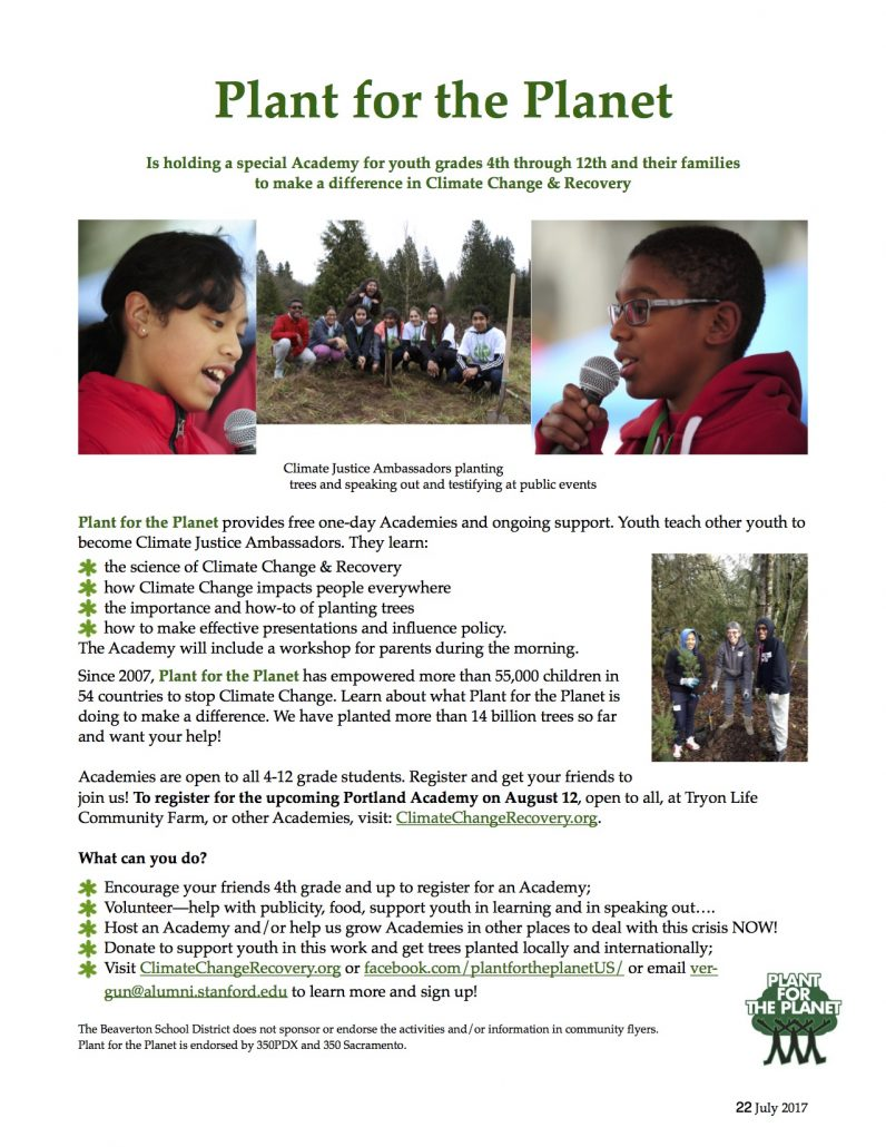 Youth Climate Academy @ Tryon Life Community Farm
